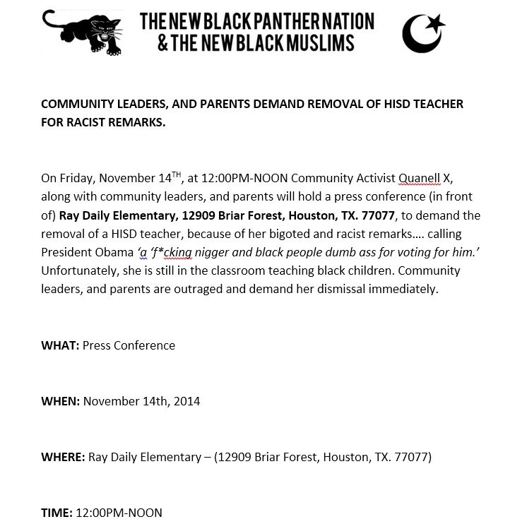 quanell x press release defaming angela box by fabricating racial slurs