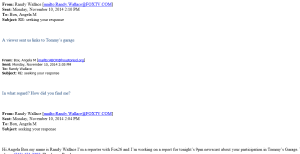 angela box email exchange with randy wallace fox 26