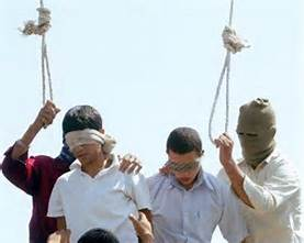 Gay men being hung for being gay in a Muslim country