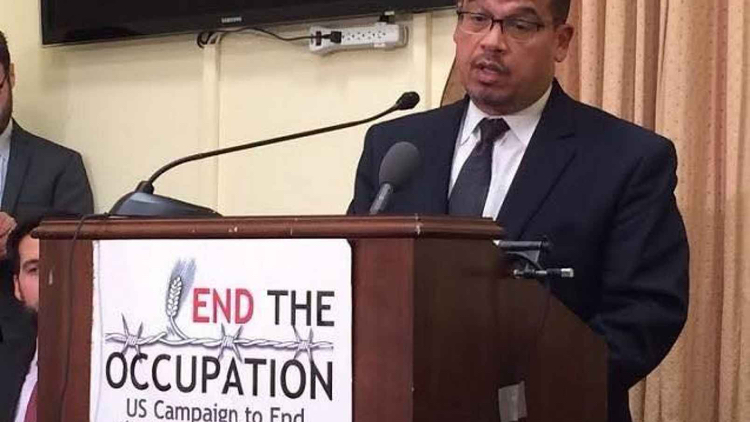 Muslim Brotherhood, CAIR, and Hamas-affiliated Rep. Keith Ellison shilling for Palestinians. Perfect choice for DNC Chairman!