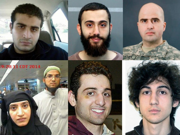 "Just a few of the imported Muslim ""refugee"" terrorists to America."