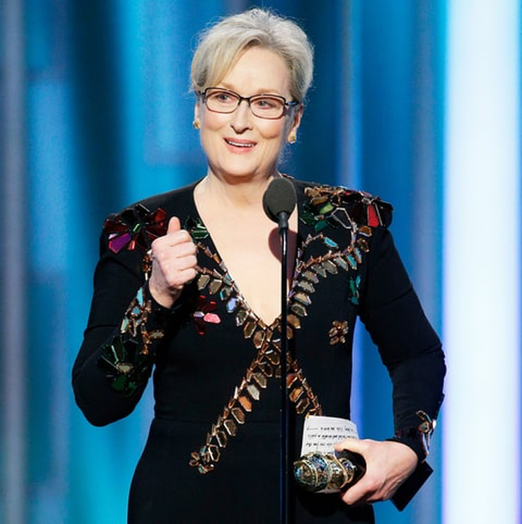Insufferable rich liberal Meryl Streep trashing half the country during the Golden Globes.