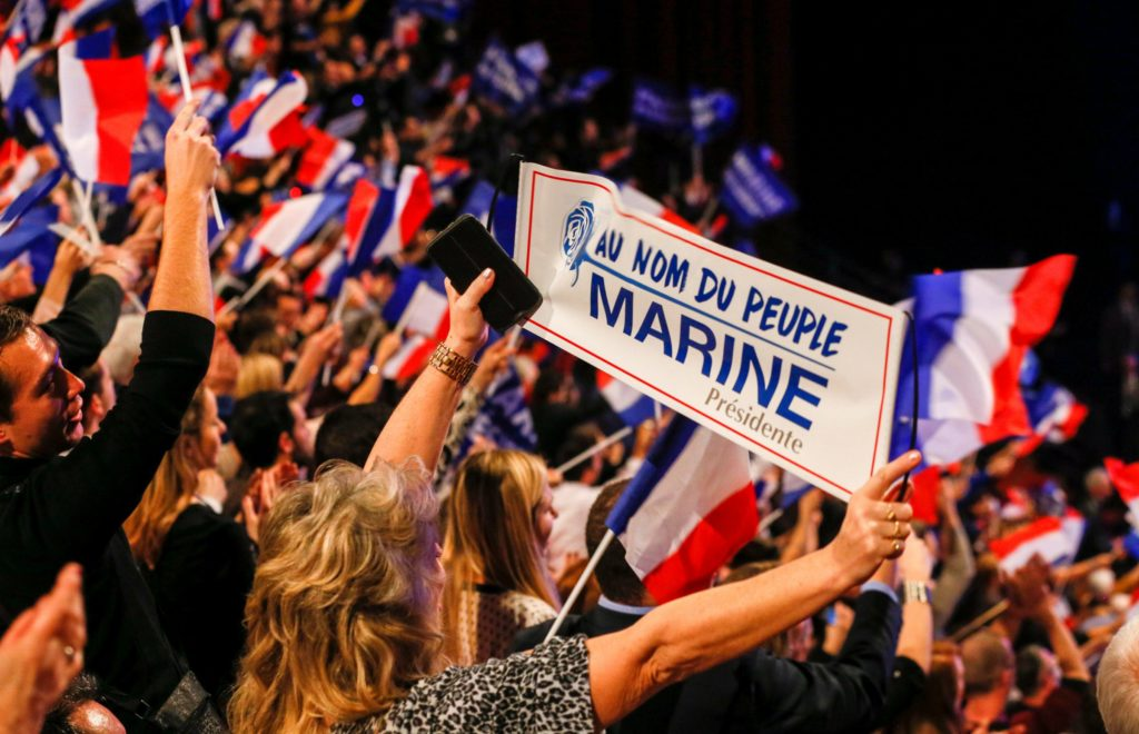 Le Pen's rallies remind the world of the ones of Donald Trump. Rut roh for the Left!