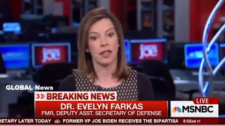 Evelyn Farkas, the Obama administration official who outed the whole thing.