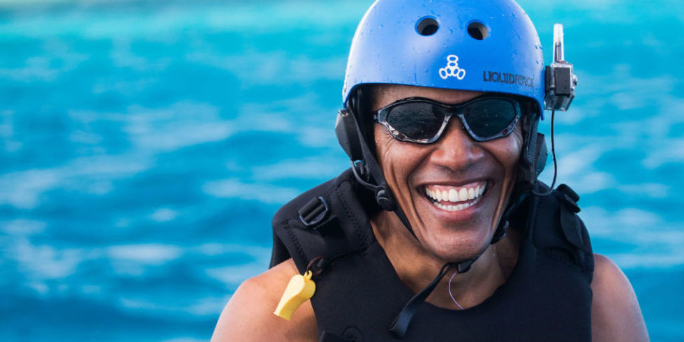 Barry is vacationing in French Polynesia with 54 of his closest male friends. Ahem.
